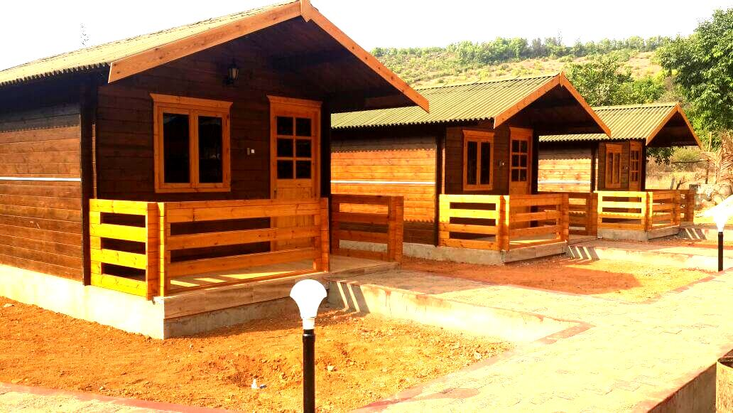 wooden cottages Gokarna