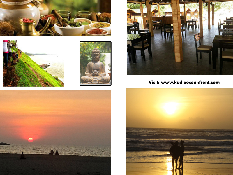 Gokarna resorts, Kudle beach,